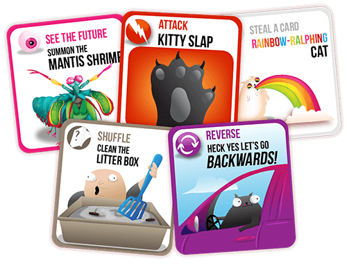 Exploding Kittens App Card Samples