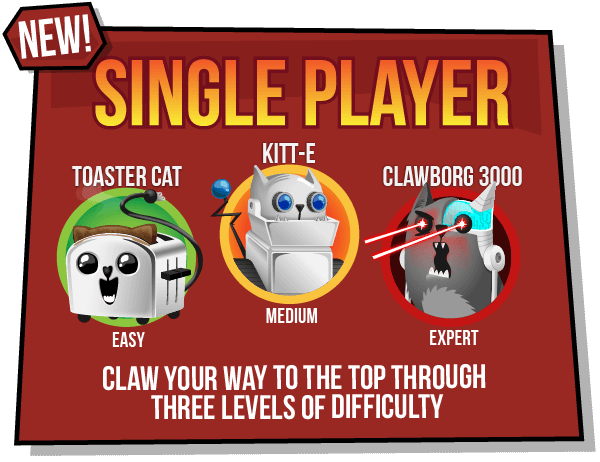 New Exploding Kittens App Sigle Player Mode