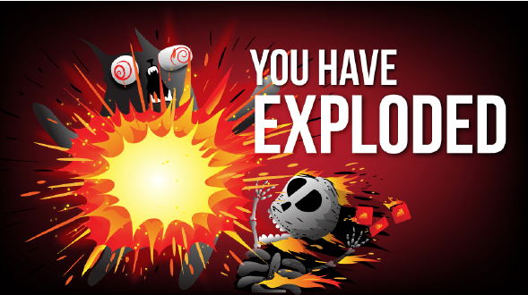 Exploding Kittens Mobile App Screen